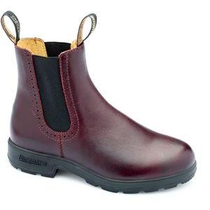 Blundstone leather dark red girlfriend boots 10